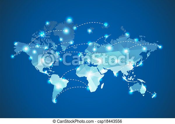 Polygonal world map with spot lights effect clipart vector search polygonal world map with spot lights effect gumiabroncs Choice Image