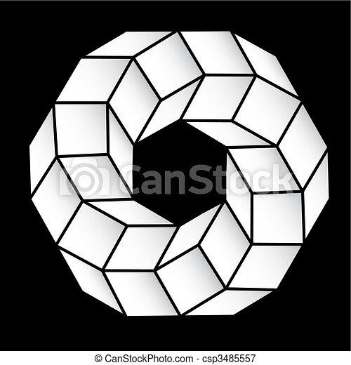 polyhedral, estrela, figura, gradiente, vetorial, 3d. - csp3485557