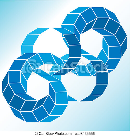 polyhedral, ster, figuur, helling, vector, 3d. - csp3485556