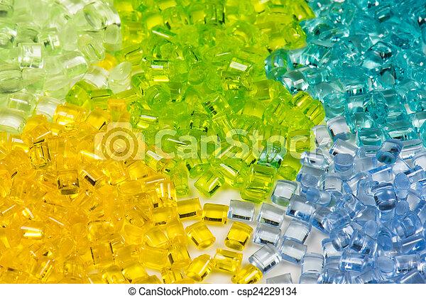 polymer, durchsichtig, blondiert, harz - csp24229134