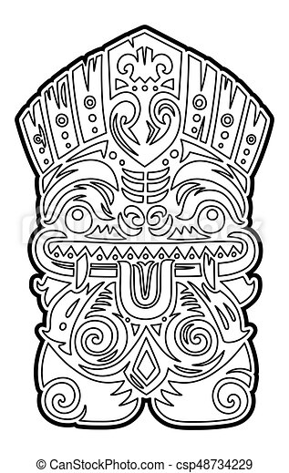 30 Free Printable Tiki Coloring Pages – Coloring Junction | 470x285