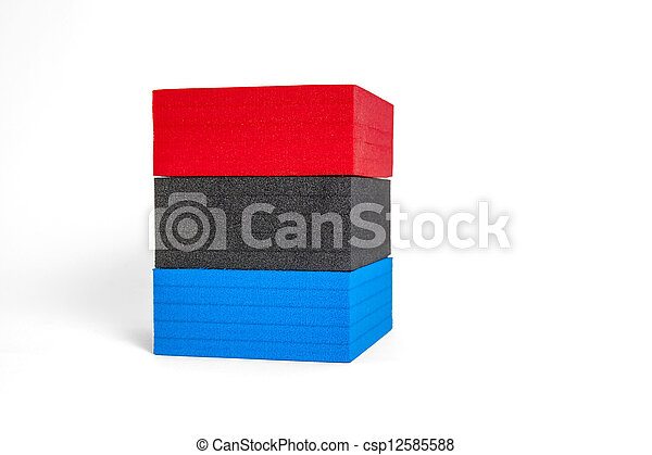 polystyrene forms in colors of the french flag - csp12585588