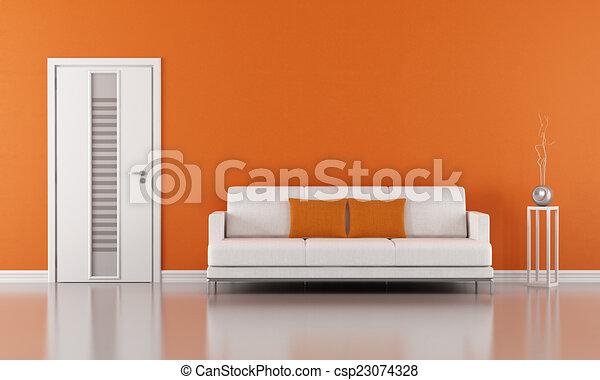 pomarańcza, życie pokój - csp23074328