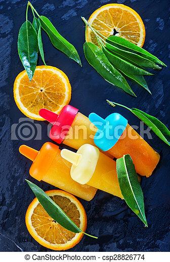 pomarańcza, icecream, swojski - csp28826774