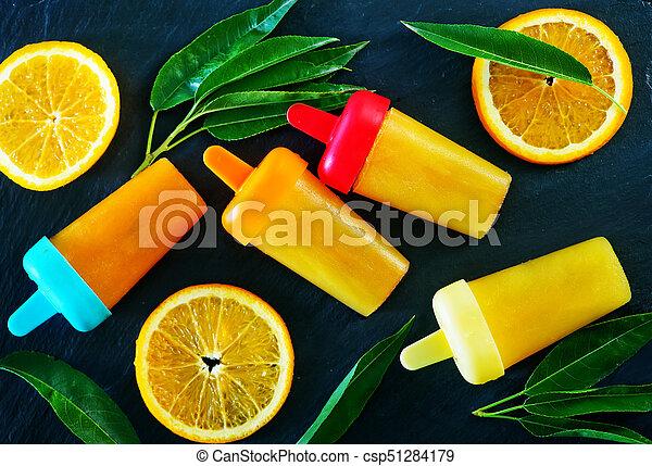 pomarańcza, icecream, swojski - csp51284179