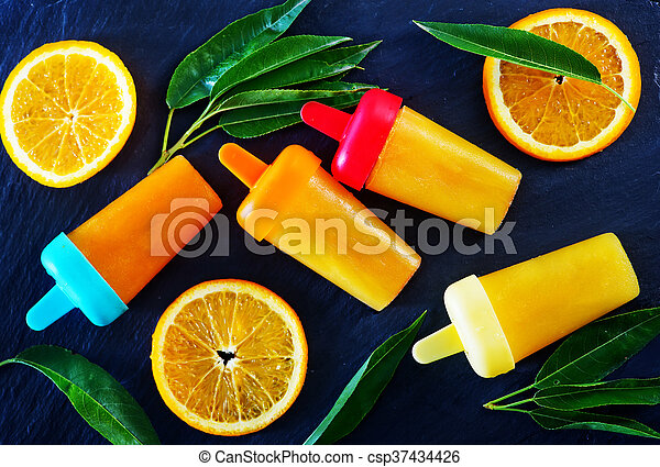 pomarańcza, icecream, swojski - csp37434426