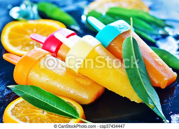 pomarańcza, icecream, swojski - csp37434447