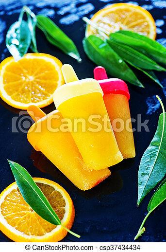 pomarańcza, icecream, swojski - csp37434434