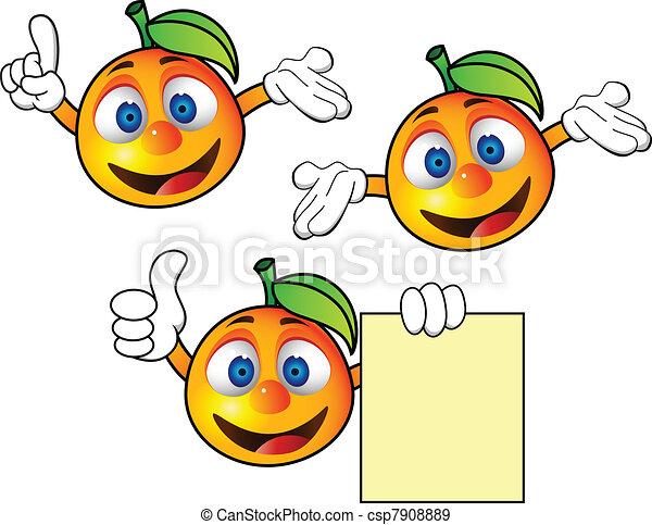 pomarańcza, litera, rysunek - csp7908889
