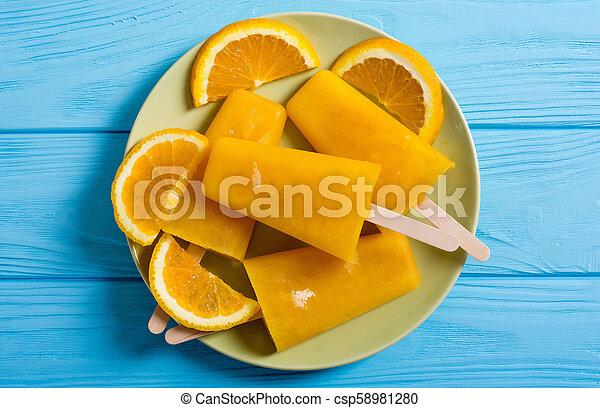 pomarańcza, popsicle, swojski - csp58981280