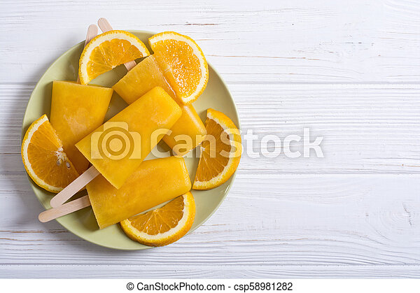pomarańcza, popsicle, swojski - csp58981282