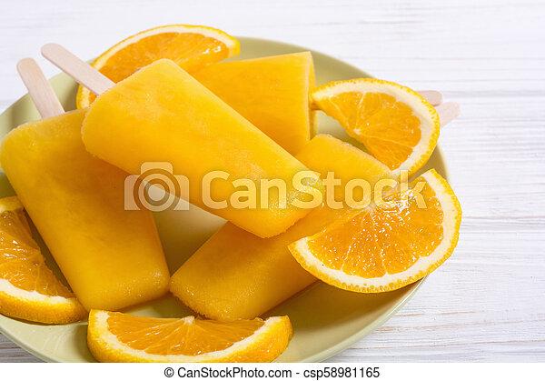 pomarańcza, popsicle, swojski - csp58981165