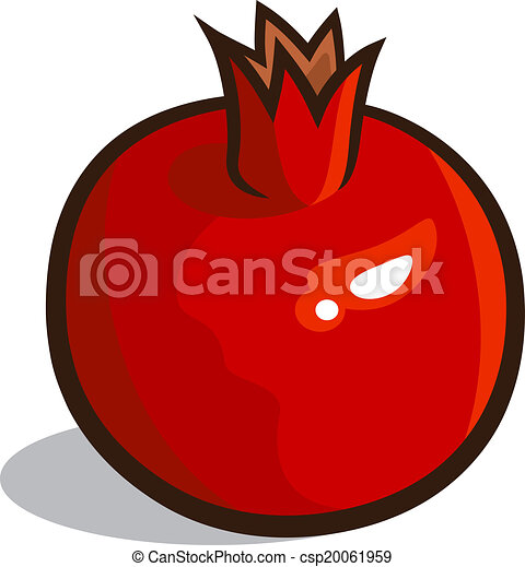 vector illustration of a pomegranate isolated on a white clipart rh canstockphoto ca pomegranate clip art free pomegranate clipart