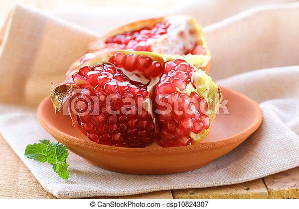pomegranate ripe fruit - csp10824307