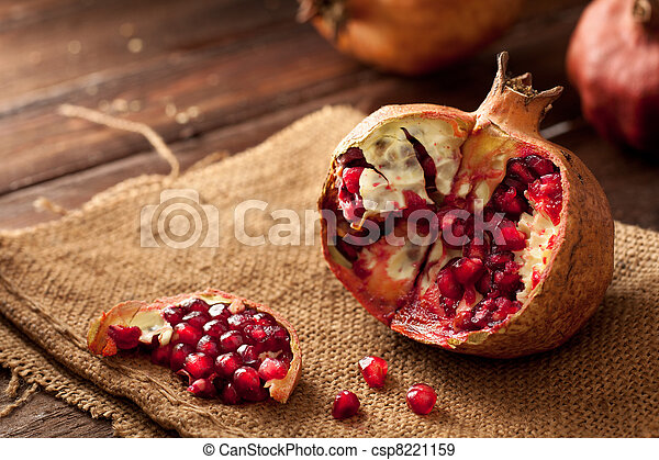 Pomegranate with Seeds - csp8221159