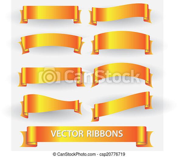 pomeranč, standarta, eps10, lem, zbabělý - csp20776719
