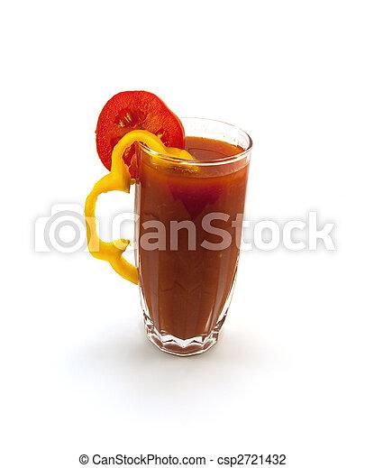 pomodoro, pepe, vetro, alto, succo, segmento - csp2721432
