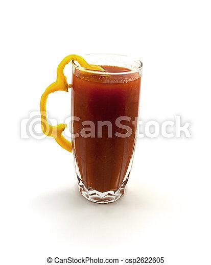 pomodoro, pepe, vetro, giallo, uno, succo, segmento - csp2622605