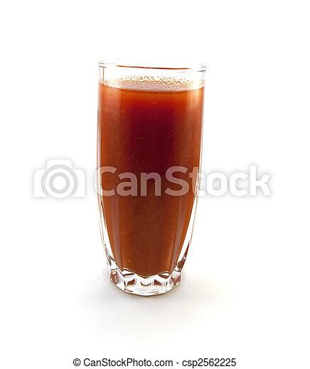 pomodoro, vetro, succo - csp2562225