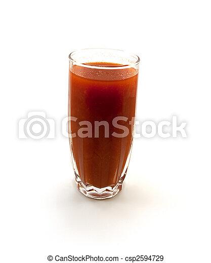 pomodoro, vetro, uno, succo - csp2594729