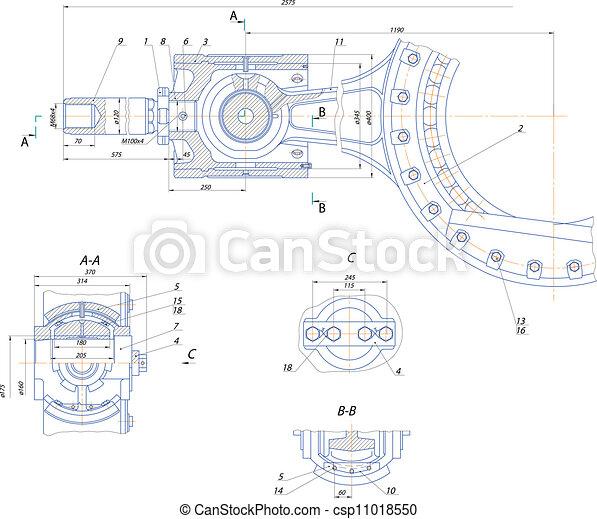 pompe, déplacement, mécanisme, crosshead - csp11018550