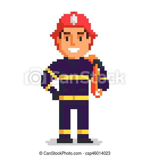 Pompier Art Pixel