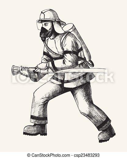 pompier - csp23483293
