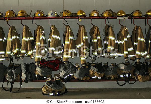 pompier, habillement - csp0138602