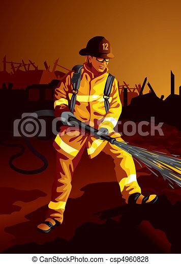 pompier - csp4960828