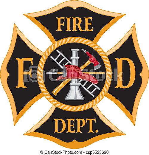 pompiers, croix maltaise - csp5523690