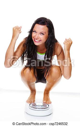 pomyślny, kobieta, dieta, po, skalpy - csp7246532