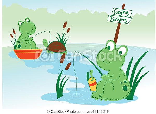 Pond frog - csp18145216