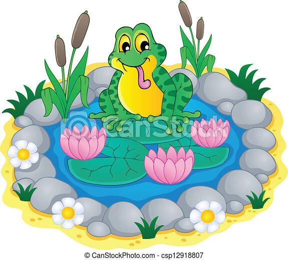 Pond theme image 1 - csp12918807