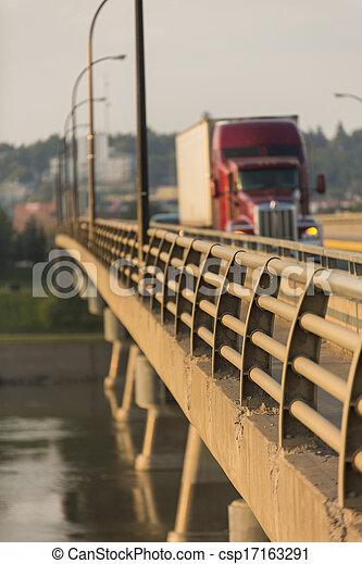 pont, camion, semi - csp17163291