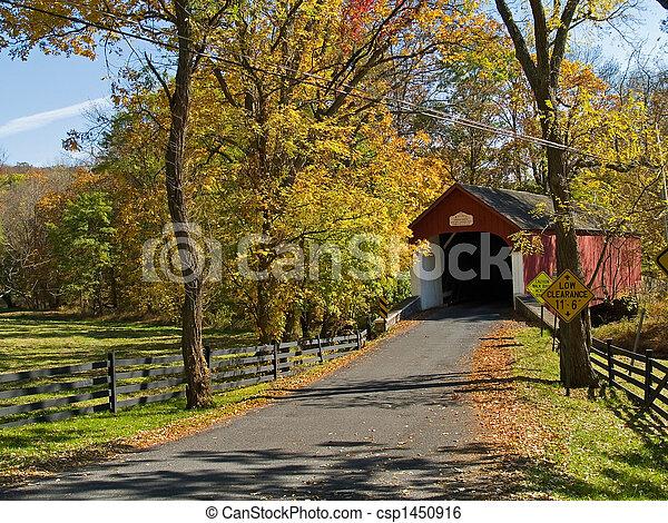pont, couvert, knechts - csp1450916
