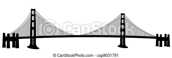 Dessin Du Pont De San Francisco pont, francisco, art, san, agrafe, porte or. pont, francisco, art