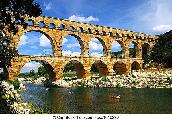 pont, gard, du, méridional, france - csp1010290