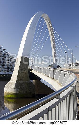 pont, glasgow, soleil, ecosse, clyde, arc - csp9008977