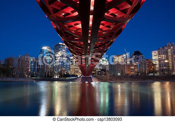 pont piétonnier - csp13803093