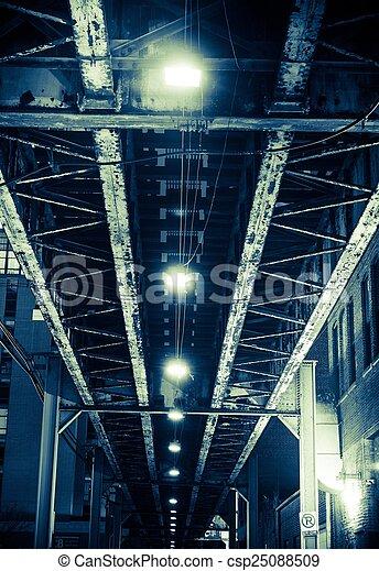 pont, vieilli, fer - csp25088509