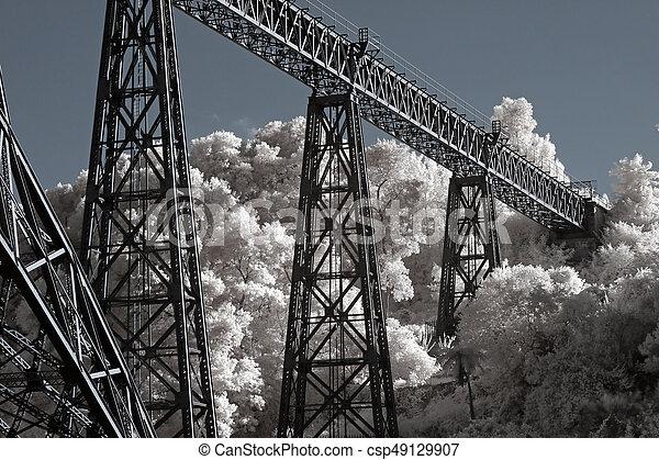 pont, vieux, fer - csp49129907