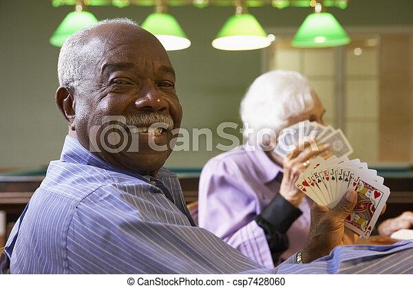 ponte, anziano, gioco, uomo - csp7428060