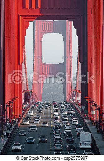 ponte, cancello, dorato - csp2575997