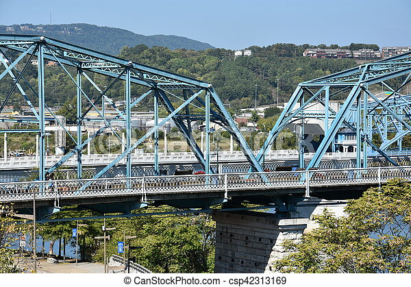ponte, chattanooga, rua, noz - csp42313169