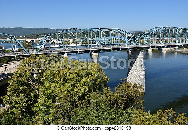 ponte, chattanooga, rua, noz - csp42313198