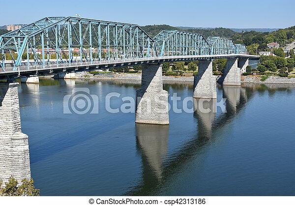 ponte, chattanooga, rua, noz - csp42313186