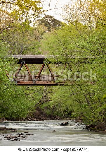ponte coberta - csp19579774