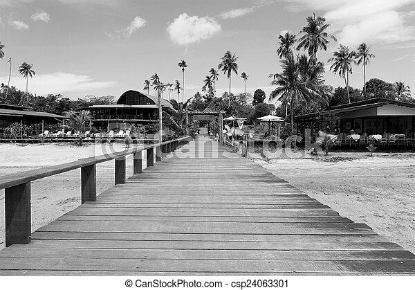 ponte, ebb, sobre, maré, mar negro, durante, branca - csp24063301