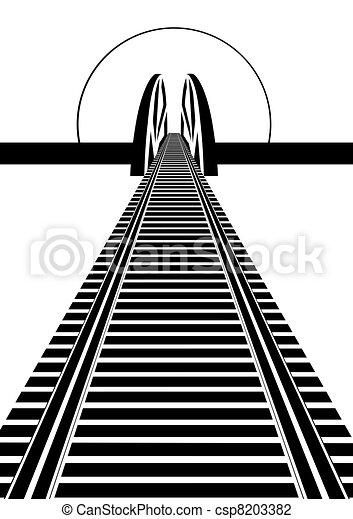 ponte, estrada ferro - csp8203382