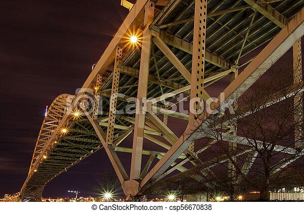 ponte, notte, fremont, sotto - csp56670838